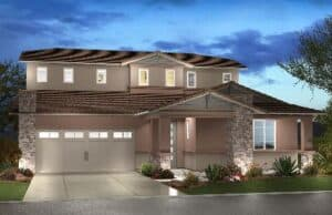 Two-story Spark Model Home in Marbella Vineyards a Gilbert New Home Community