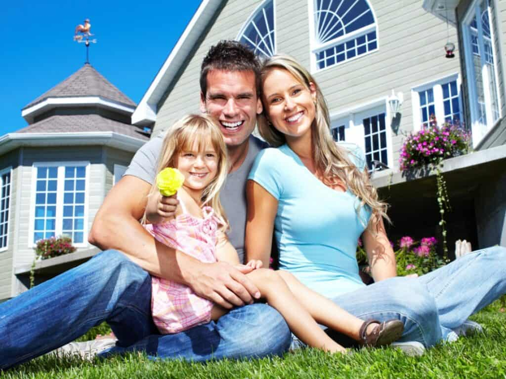 Happy Family got a home with VA Loan