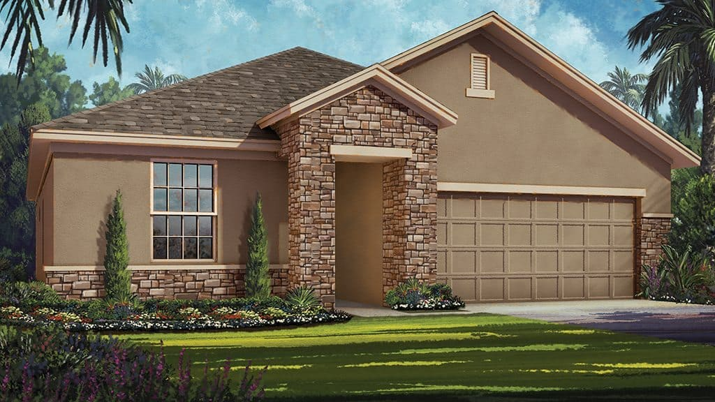 Campbell floor plan at The Canyons at Highland Ranch in Clermont ,FL | Taylor Mosrrison