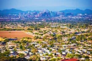 Bird eye view of the safest community Gilbert , AZ