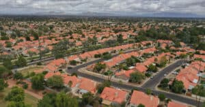 Aerial View of Houses in a Gilbert Community