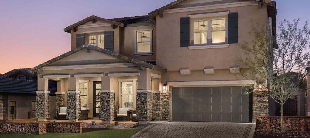 A model home in Stratford in Gilbert, Blandford Homes