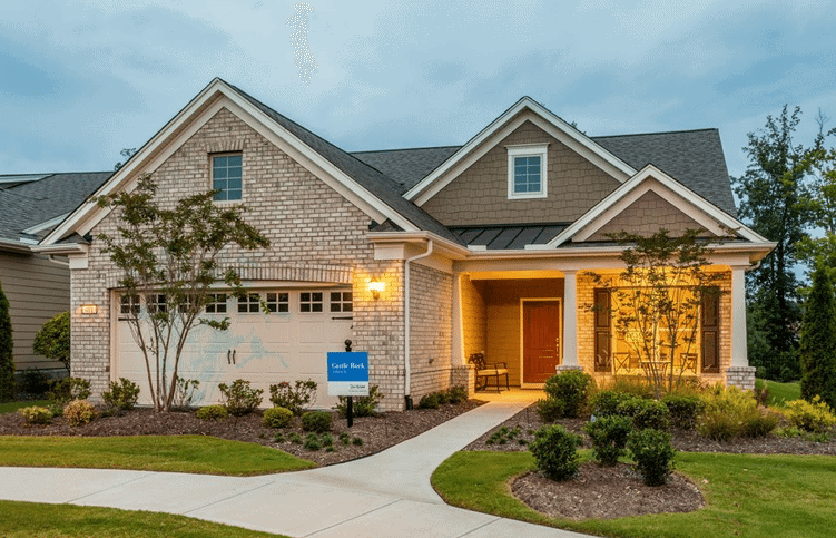 Exterior of Home built by Pulte Homes