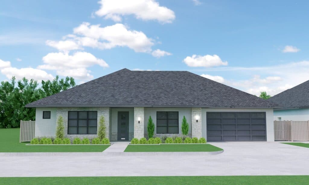 The Whitney 2 Model - Rendering of an Oklahoma Home